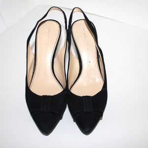 Marc Fisher Shoes - Marc Fisher Suede Bow Pointed Toe Slingback Pumps